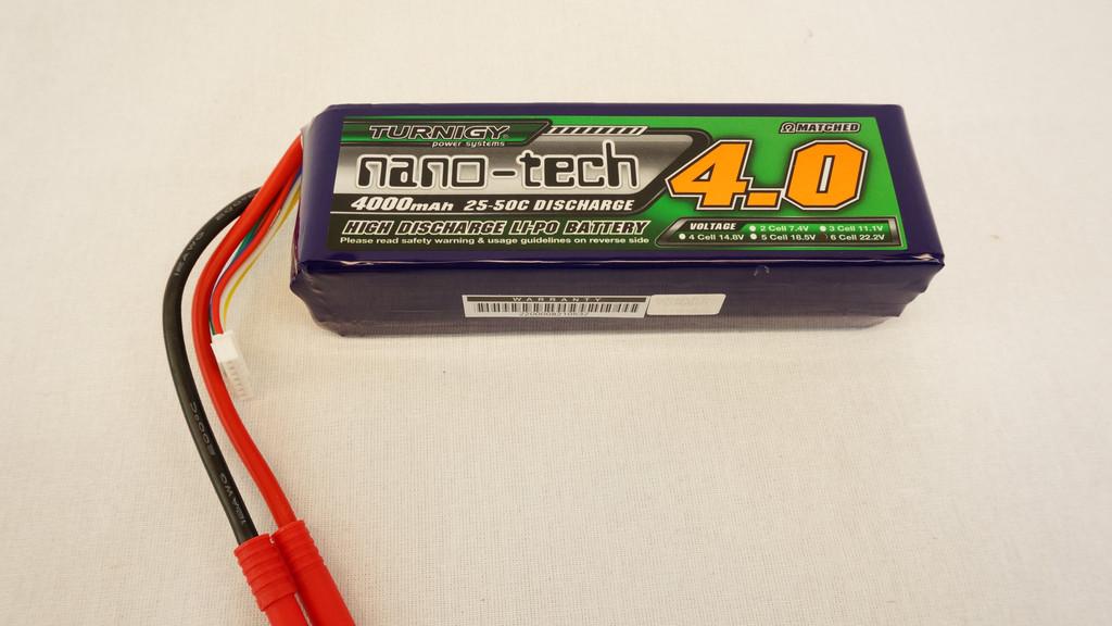 Turnigy Nanotech 4000mAh - 6S - 25C LiPo Battery Image