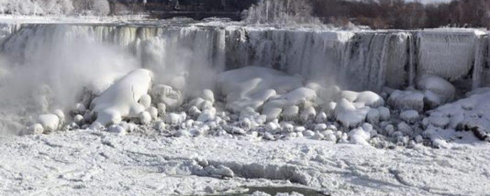 NBC shoots frozen Niagara Falls