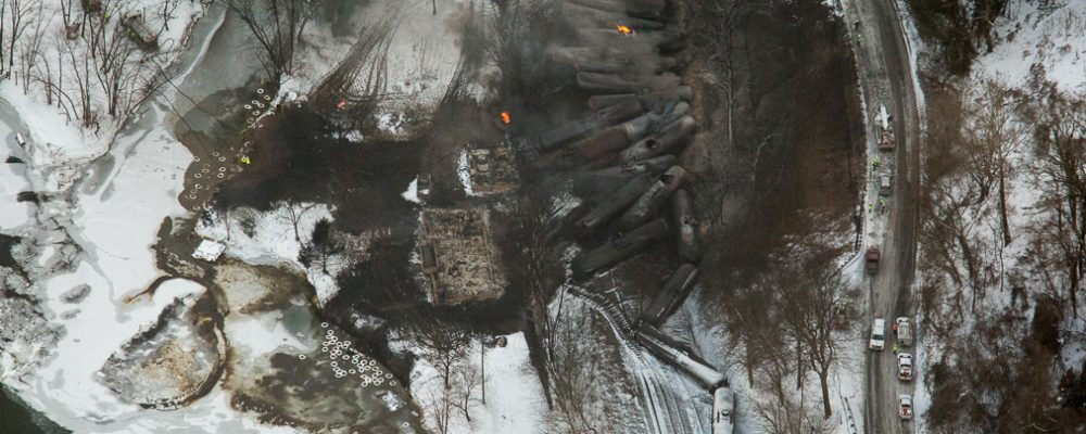 Photos of West Virginia Train Explosion